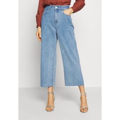 コットンオン レディース デニムパンツ ボトムス HIGH RISE WIDE LEG - Flared Jeans - stonewash blue stonewash blue