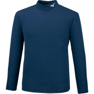 ミズノ ブレスサーモシャツ ハイネック(ドレスネイビー・サイズ:XL) mizuno ユニセックス 32MA074214XL 返品種別A