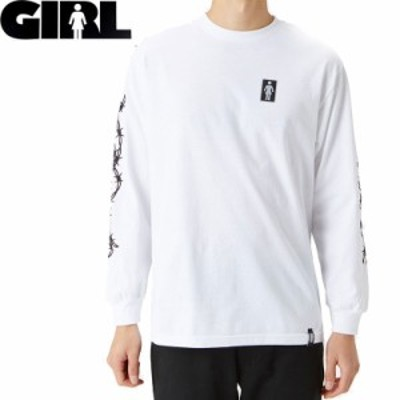 GIRL ガールスケートボード ロング Tシャツ BARBED WIRE L/S TEE NO21