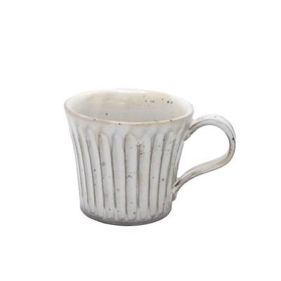 マグカップ おしゃれ 粉引削ぎ目 美濃焼 陶器 コーヒーカップ 粉ひきマグ