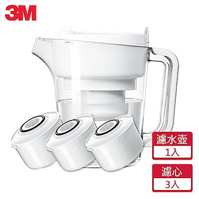 [送菜瓜布] 3M 經典款即淨長效濾水壺WP3000(1壺+3濾心)(快)