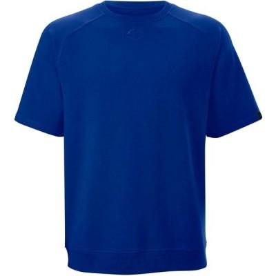 エボシールド トップス メンズ ランニング EvoShield Men's Terry Short Sleeve Sweatshirt Royal