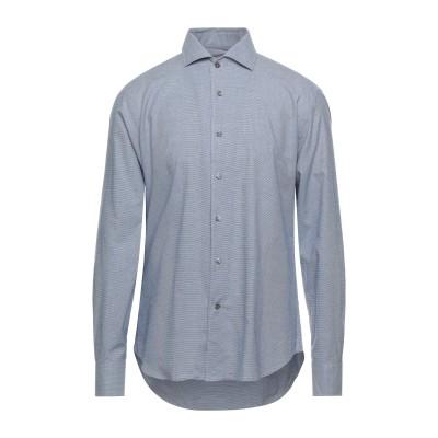 CORNELIANI ID シャツ ダークブルー 41 コットン 100% シャツ