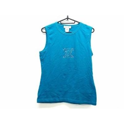 セリーヌ CELINE ノースリーブTシャツ サイズL レディース - ブルー ラインストーン【中古】20201206