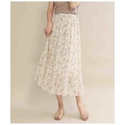 ANAP(アナップ)花柄消しプリーツスカート【お取り寄せ商品】