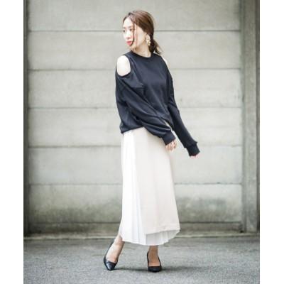 プリーツドッキングタイトスカート