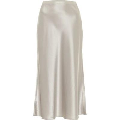 ラルフ ローレン Polo Ralph Lauren レディース ひざ丈スカート スカート Satin midi skirt Silver Grey