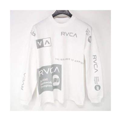 RVCA ルーカ オールオーバー ロングスリーブ Tシャツ ALL OVER RVCA L/S TEE  AJ042-074 ビッグ オーバー サイズ シルエット ドロップ ショルダー 長袖 メンズ