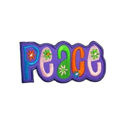 アイロンワッペン  かわいいわっぺん ワッペン 刺繍ワッペン PEACE アイロンで貼れるワッペン