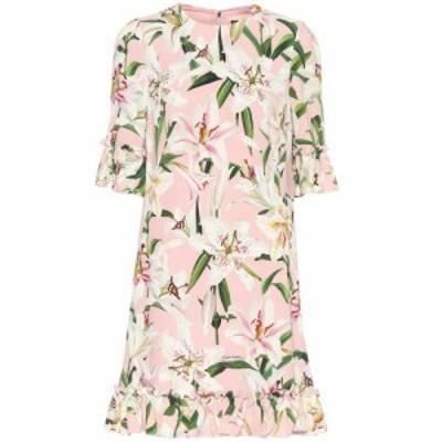 ドルチェ&ガッバーナ Dolce & Gabbana レディース ワンピース ワンピース・ドレス Floral crepe de chine dress Gigli Fdo. Rosa