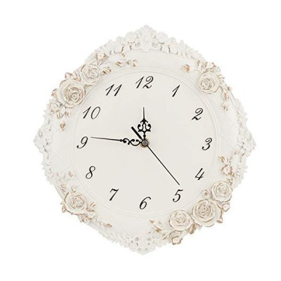Mute Wall Clock, Decor Clock Silent Battery Operated Clock European Style Wall Clocks for Bedrooms, for Kitchen/Bedroom/Li