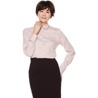 [ナラ カミーチェ] サテンストライプ長袖シャツ 10-72-01-060 レディース ピンク 日本 2L (日本サイズ13 号相当)