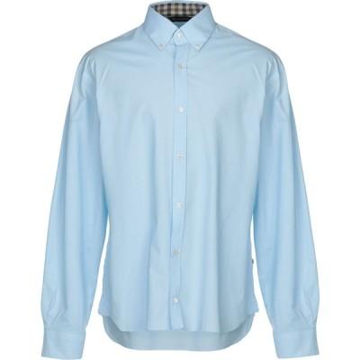 アクアスキュータム AQUASCUTUM メンズ シャツ トップス Solid Color Shirt Sky blue