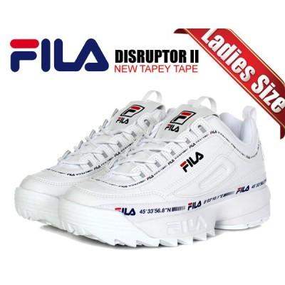 フィラ ディスラプター 2 ニューテイピーテープ FILA DISRUPTOR II NEW TAPEY TAPE White/White/White 1gm00848-100 ウィメンズ レディース スニーカー ホワイト