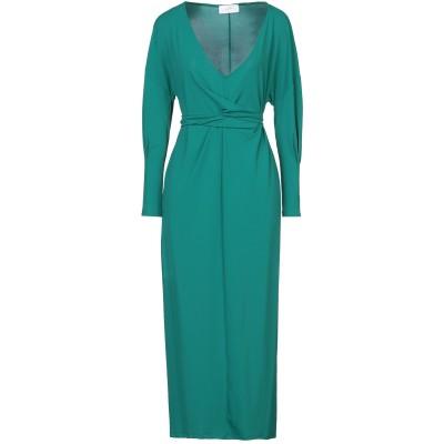 SOALLURE 7分丈ワンピース・ドレス グリーン 40 アセテート 75% / ナイロン 20% / ポリウレタン 5% 7分丈ワンピース・ドレス