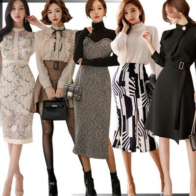 2枚+1枚「 12/01 新作追加 Special Offer」4枚送料無料 高品質ワンピースドレス韓国ファッションOL正式な場合礼装ドレスセクシーなワンピース一字肩二点セット