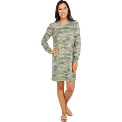 ラッキーブランド Lucky Brand レディース ワンピース ワンピース・ドレス Cozy Knit Rib Sleeve Dress Green Multi