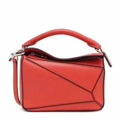 ロエベ Loewe レディース ショルダーバッグ バッグ Puzzle Mini leather shoulder bag Pomodoro