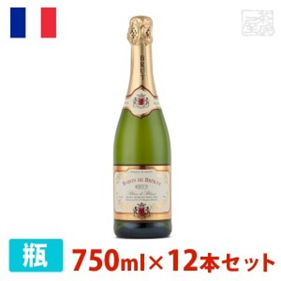 バロン・ド・ブルバン ブリュット・ブラン・ド・ブラン 750ml 12本セット 白泡 スパークリングワイン 辛口 フランス