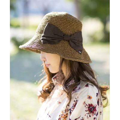 Shop無 / 後ろリボンペーパー編みクロッシェハット WOMEN 帽子 > ハット