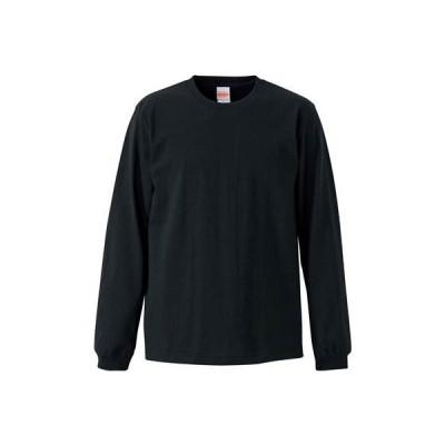 (ユナイテッドアスレ)UnitedAthle オーセンティックスーパーヘヴィーウェイト 7.1オンス 長袖Tシャツ(1.6インチリブ) 426201[ ブラック ]M