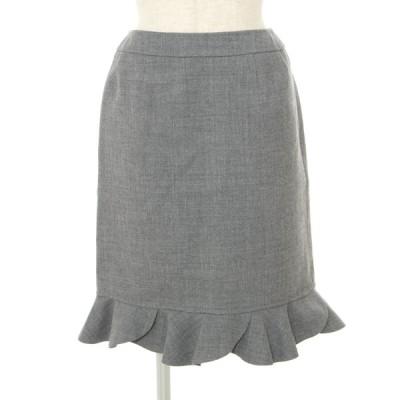 ルネ スカート ウール 裾フリル 34