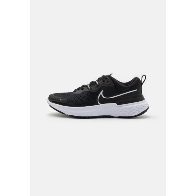 ナイキ シューズ レディース ランニング REACT MILER 2 - Neutral running shoes - black/white/smoke grey