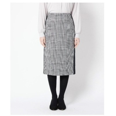 Modify(モディファイ)ウール混グレンチェックタイトスカート