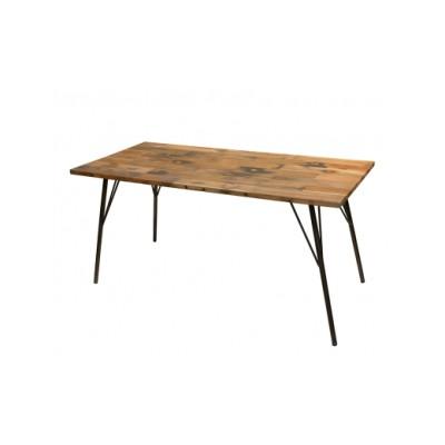 318-01 gleam カヌーの古材ダイニングテーブル150(kanoナチュラル)