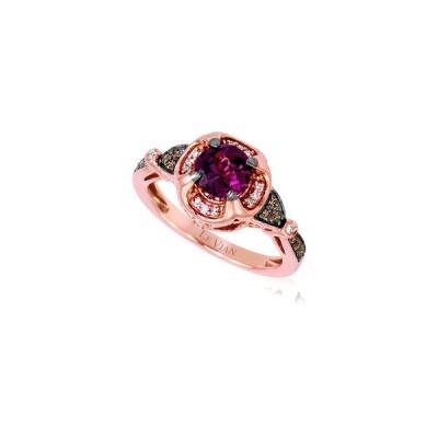 ルヴァン リング アクセサリー レディース Le Vian 14K Rose Gold 1.16 ct. tw. Diamond & Rhodolite Ring -