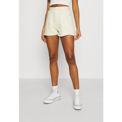 ミスガイデッド レディース デニムショーツ LIGHTWASH FRAY HEM - Denim shorts - stone
