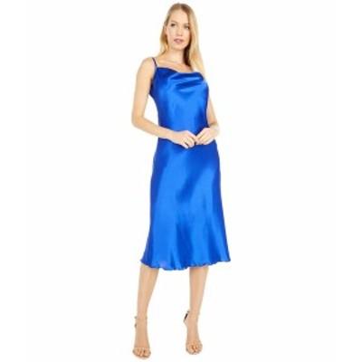 ベベ レディース ワンピース トップス Satin Slip Dress Cobalt
