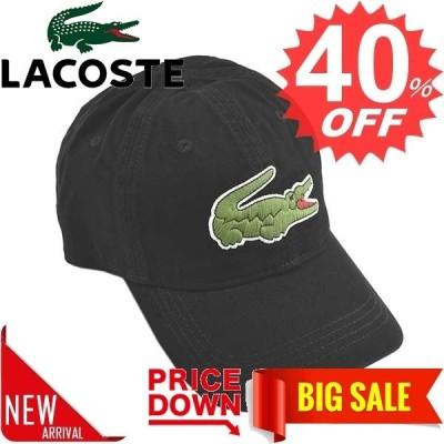 ★★●ラコステ 帽子 LACOSTE  RK8217 MENS BIG CROC GABARDINE CAP 31 BLACK  コットン  比較対照価格6,600 円