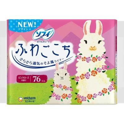 ユニ・チャーム ソフィふわごこち ピンクローズの香り 38枚×2