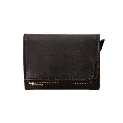 【カバンのセレクション】 カクタ 三つ折り財布 極小財布 本革 スキミング防止 CACT'A 2005 ユニセックス ブラック フリー Bag&Luggage SELECTION