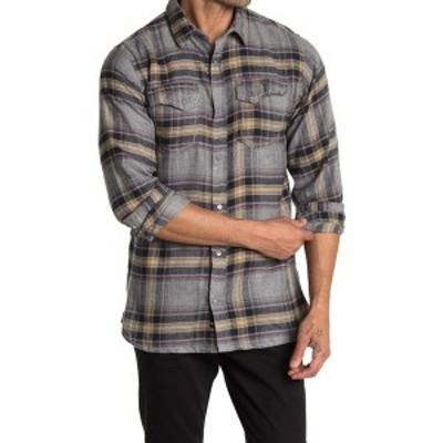 バーンサイド メンズ シャツ トップス Plaid Flannel Shirt LIGHT GREY