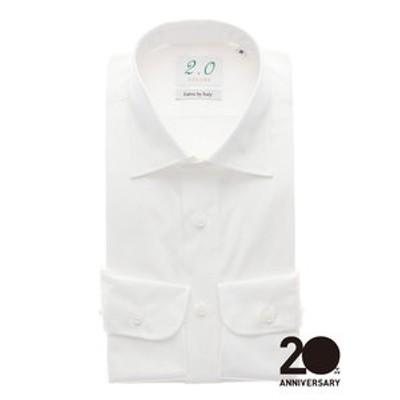 20周年記念アイテム/ワイドカラードレスシャツ 無地≪Fabric by ITALY≫