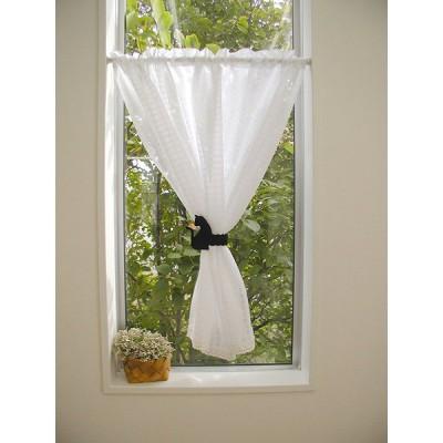 カーテン 100×90cm 猫 ネコ キャット 雑貨 小窓用カーテン フェルト タッセル付き オールシーズン おしゃれ かわいい
