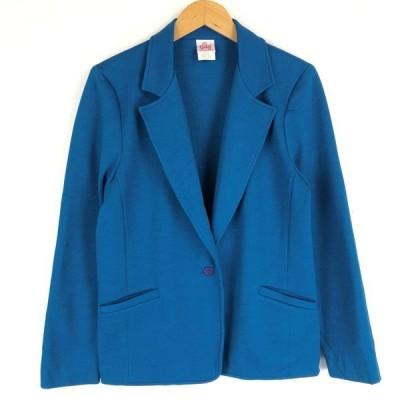 【古着】 graff テーラードジャケット made in USA ヴィンテージ ブルー系 レディースL 【中古】 n017639