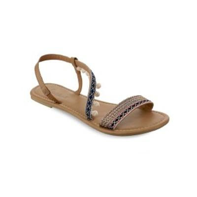 オリビアミラー レディース サンダル シューズ Neptune Mini Pom Pom Sandals Tan