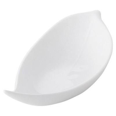 (業務用・花・葉形)笹型白小鉢(小)[62815-578](入数:5)