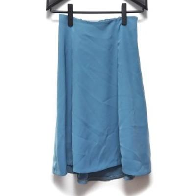 ユナイテッドアローズグリーンレーベルリラクシング スカート サイズ36 S レディース ライトブルー【中古】20210603