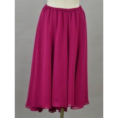 シビラ Sybilla ジョーゼット スカート Mサイズ ピンク レディース F-M11506