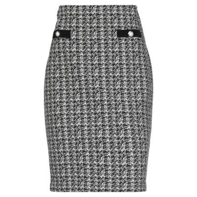 JOSEPH RIBKOFF ひざ丈スカート ブラック 10 ポリエステル 62% / コットン 35% / ポリウレタン 3% ひざ丈スカート