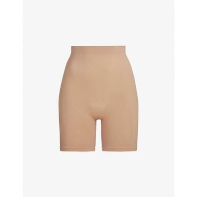スキムズ SKIMS レディース インナー・下着 Sculpting high-rise stretch-woven shorts OCHRE