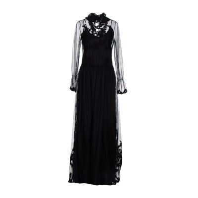 ブルーガール ブルマリン BLUGIRL BLUMARINE ロングワンピース&ドレス ブラック 44 ナイロン 60% / コットン 35% /