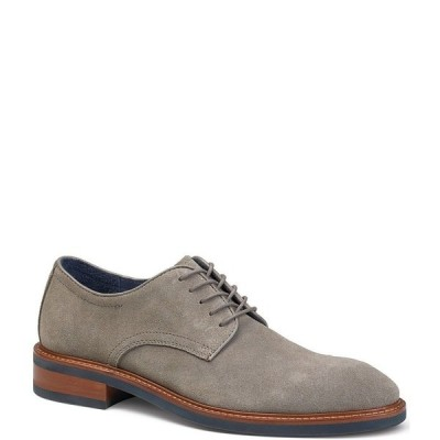 トラスク メンズ ドレスシューズ シューズ Men's Lansing Plain Toe Suede Oxfords Gray
