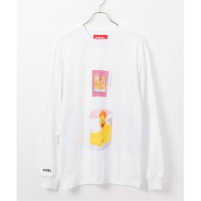 アンフォロー 【032C / ゼロスリーツーシー】プリント ロングスリーブTシャツ ホワイト XL