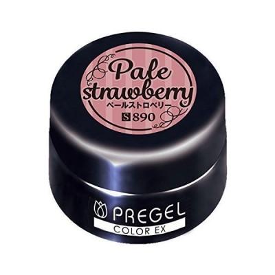 PRE GEL カラージェル カラーEX ペールストロベリー 3g PG-CE890 UV/LED対応