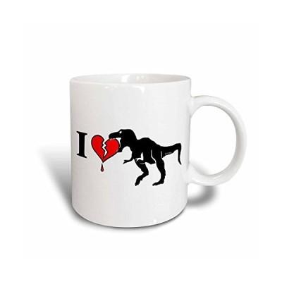 3dRose Dinosaur Eats Heart Magic Transforming Mug, 11-Ounce【並行輸入品】